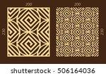 laser cutting set. woodcut... | Shutterstock .eps vector #506164036