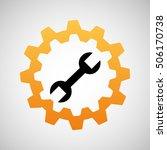 construction gear icon spanner... | Shutterstock .eps vector #506170738