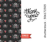 chalkboard style greeting card... | Shutterstock .eps vector #506172505