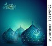 islamic vector design mosque... | Shutterstock .eps vector #506195422