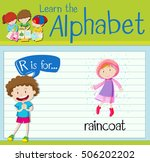 flashcard alphabet r is for... | Shutterstock .eps vector #506202202