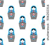 pattern with russian dolls  ... | Shutterstock .eps vector #506202316