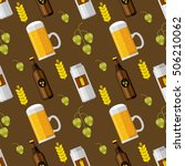 seamless pattern with beer....   Shutterstock .eps vector #506210062