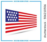 american flag icon vector... | Shutterstock .eps vector #506210506