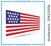 american flag icon vector... | Shutterstock .eps vector #506210506