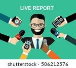 business man giving an... | Shutterstock .eps vector #506212576