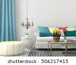 3d illustration. white interior ... | Shutterstock . vector #506217415