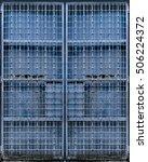 blue metal gate  penang ... | Shutterstock . vector #506224372