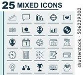 set of 25 universal editable... | Shutterstock .eps vector #506229202