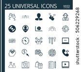set of 25 universal editable... | Shutterstock .eps vector #506229268