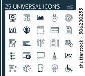 set of 25 universal editable... | Shutterstock .eps vector #506230255