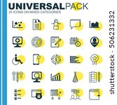 set of 25 universal editable... | Shutterstock .eps vector #506231332