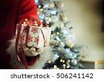 Santa S Hand With Gift Box