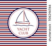 yacht club background in vector ...