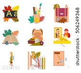 assembly flat icons the first... | Shutterstock .eps vector #506249368