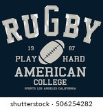 college vector label and print... | Shutterstock .eps vector #506254282