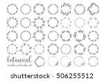 botanical wreaths set. vector...