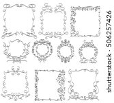 hand drawn frames | Shutterstock .eps vector #506257426