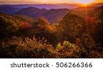 great smoky mountain sunset.... | Shutterstock . vector #506266366