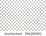 Steel Mesh Wire Fence Isolated...