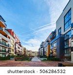 modern complex of apartment... | Shutterstock . vector #506286532