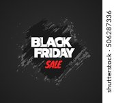 black friday sale. abstract... | Shutterstock .eps vector #506287336