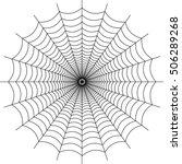 vector spider web  | Shutterstock .eps vector #506289268