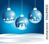 christmas nativity scene | Shutterstock .eps vector #506289832