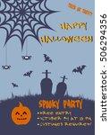 halloween vertical background... | Shutterstock .eps vector #506294356