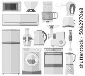 household appliances. vector...   Shutterstock .eps vector #506297068