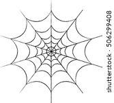 vector spider web | Shutterstock .eps vector #506299408