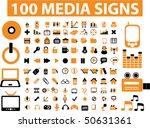 100 professional media signs....
