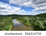 the valley of the river gauja.... | Shutterstock . vector #506314732