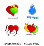 wellness symbols. healthy food... | Shutterstock .eps vector #506315902
