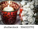 Candle With Red Candle Holder...