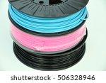 3d printing filament spools | Shutterstock . vector #506328946