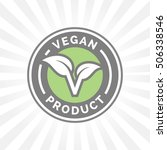 vegan icon design. vegan food... | Shutterstock .eps vector #506338546