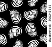 seamless  black and white... | Shutterstock .eps vector #506345566