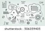 background schema formula ... | Shutterstock .eps vector #506359405