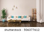 modern interior of living room... | Shutterstock . vector #506377612