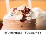 vanilla smoothie shake   Shutterstock . vector #506387455