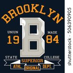brooklyn typography design ... | Shutterstock .eps vector #506390905