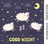 Good Night Card With The Cute...