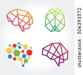 vector brain design conceptual... | Shutterstock .eps vector #506393572