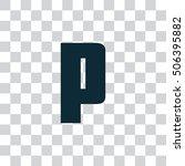 letter p vector  logo. useful...