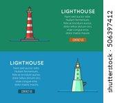 lighthouse template banners ...   Shutterstock .eps vector #506397412
