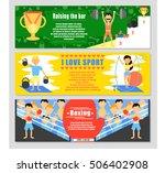 sport banner set. boxing banner.... | Shutterstock .eps vector #506402908