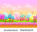 cartoon fantasy candy land...