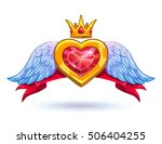 cool ruby heart with golden...