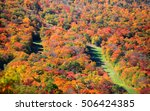 Fall foliage on Mount Mansfield near Stowe in Vermont.